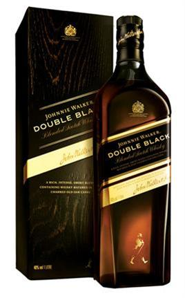 Johnnie Walker Blended Scotch Whiskey Double Black (Liter Bottle)